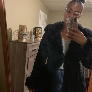 Armani exchange faux shearling coat